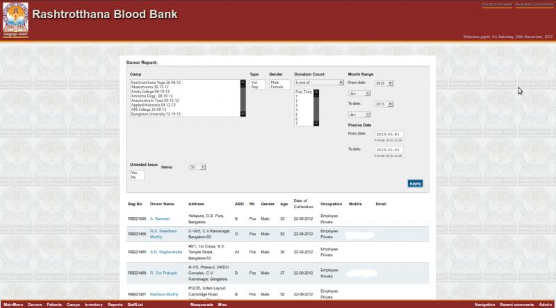 online blood bank management system project documentation pdf